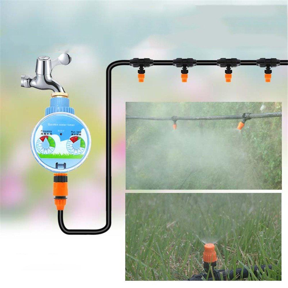 灌漑システム用キット庭用灌漑用ホースタイマーアトマイザノズルおよび各種ドリップ灌漑キット B07F5V4VXJ