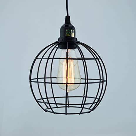 fantado sphere shaped vintage edison light bulb cage for pendant lights by cage only
