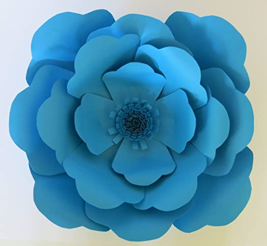 Amazon blue rose wall hanging giant paper flower 16 bride blue rose wall hanging giant paper flower 16quot bride bridal party bouquet alternative mightylinksfo