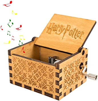 Teepao Harry Potter Caja de música, manivela de Mano, Caja de ...
