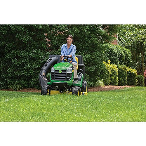 """Toucan City Gas Can with 3"""" Softouch Hand Trowel and John Deere E110 42"""" 19 HP Gas Hydrostatic Lawn Tractor-California Compliant BG21074"""