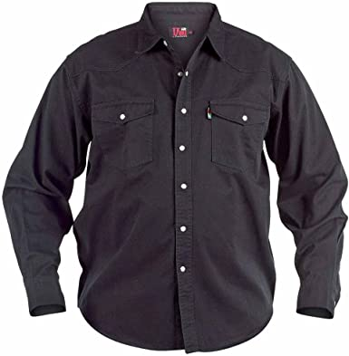Mens Quality Denim Shirt Sizes Small Xxl Xl Fits 42 43 Chest Black Amazon Co Uk Clothing