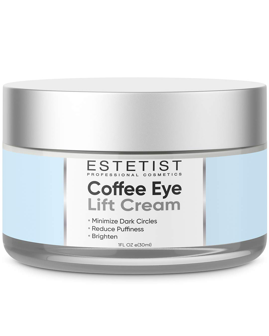 Caffeine Infused Coffee Eye Lift Cream - Reduces Puffiness, Brightens Dark Circles, Firms Under Eye Bags - Anti Aging, Wrinkle Fighting Skin Treatment