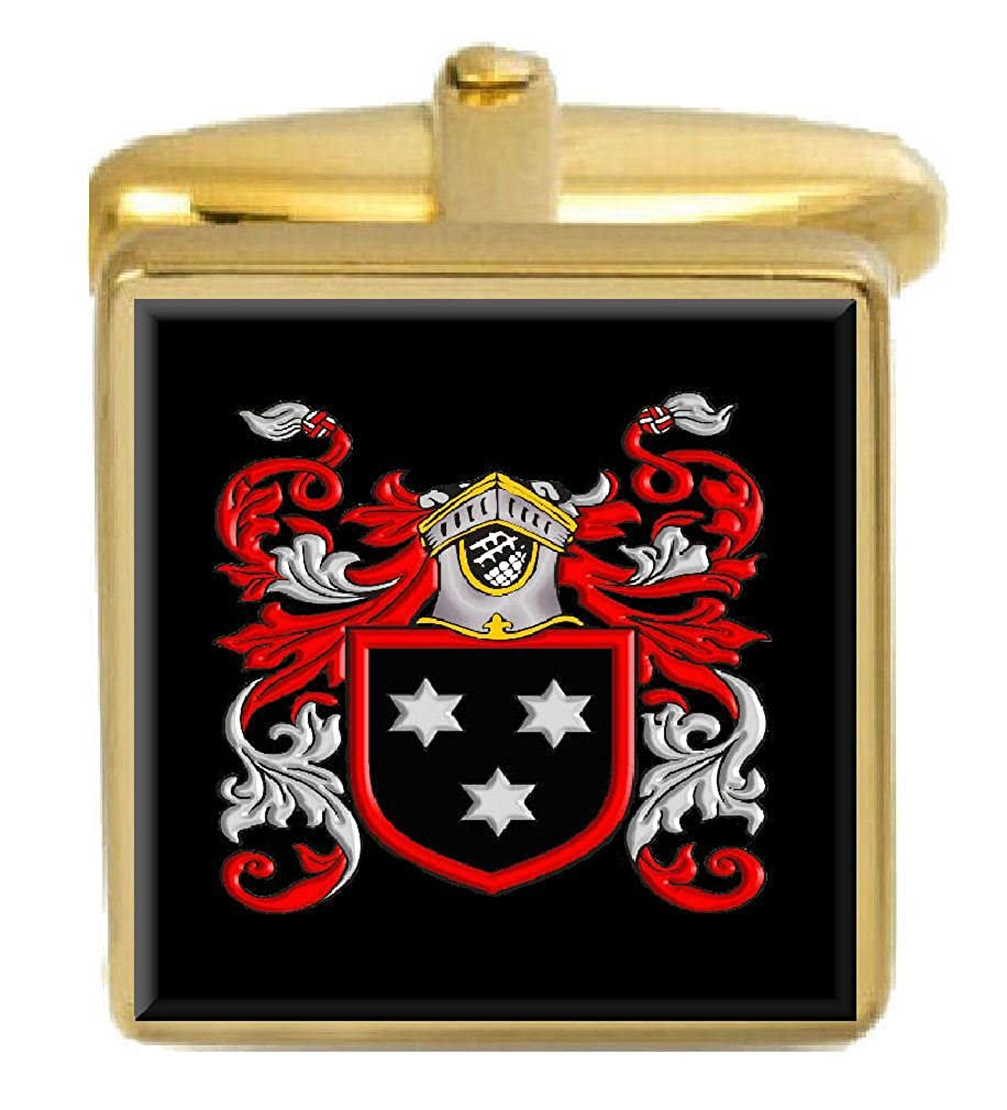 Select Gifts Stoddart Scotland Family Crest Surname Coat Of Arms Gold Cufflinks Engraved Box