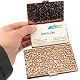 YOBANSA Stainless Steel Rose Gold Business Card Holder Credit Card Holder Name Card Holder Business Card Case for Men and Women (Rose gold 02)