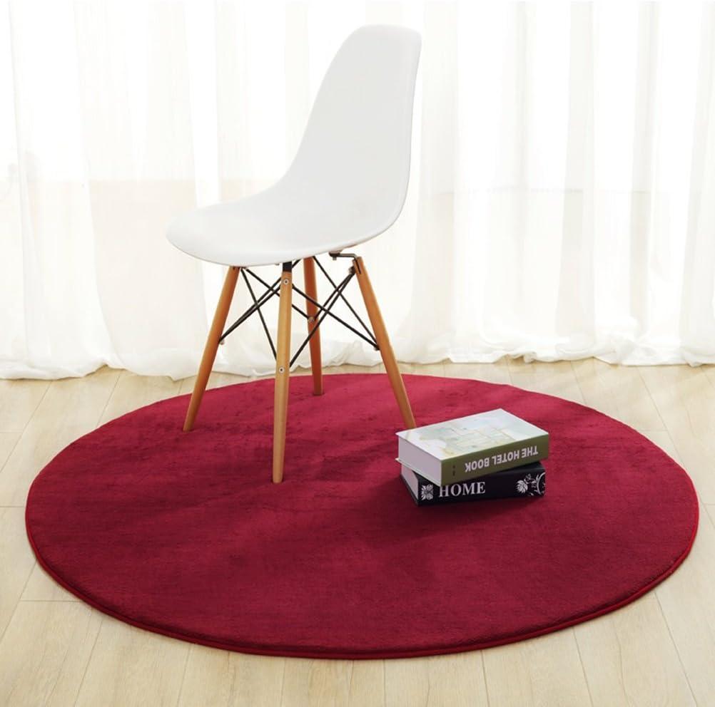 Teppich Einfache Runde Schlafzimmer Wohnzimmer Nacht Korb Decke Einfarbig Computer Stuhl Fu/ßmatten Non-Slip Mat Bath Time Flagship Store LUYIASI Farbe : A, gr/ö/ße : 60