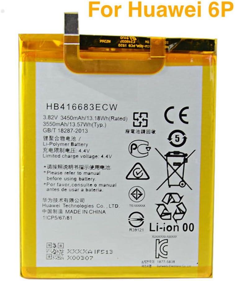 Batería interna de repuesto para HUAWEI NEXUS 6p HB416683ECW 3450mAh Reino Unido