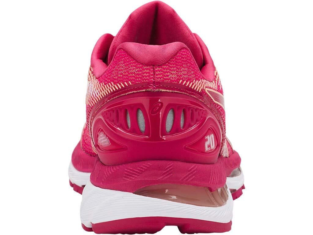 ASICS Women's Gel-Nimbus 20 Running Shoes, 5.5M, Bright Rose/Rose/Apricot by ASICS (Image #3)