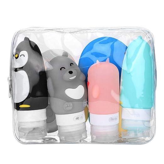 Conjunto de botellas de viaje de silicona, aprobado por la FDA ...