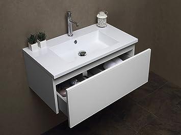 arredo bagno mobile bagno da cm 80 con lavabo/lavandino in ... - Lucido Cabinet Grigio Lavandino