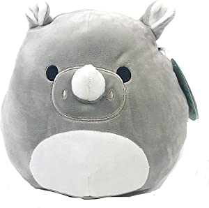 "Squishmallow Kellytoy 16"" Irving The Rhino- Super Soft Plush Toy Pillow Pet Animal Pillow Pal Buddy Stuffed Animal Birthday Gift Holiday Spring"