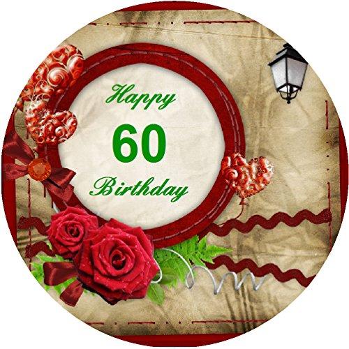 Tortenaufleger 60. Geburtstag 02