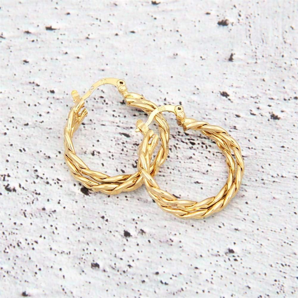 14 Karat vergoldete Creolen f/ür Frauen M/ädchen mit 925 Sterling Silber Post Creolen