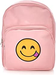 Olivia Miller Girl Smiley Face Emoji Backpack, Pink