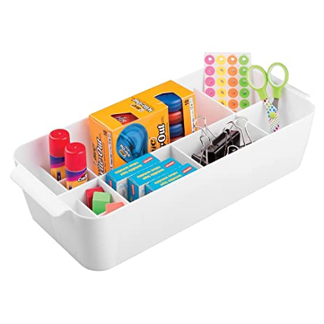 MDesign Office And Desk Organizer Caddy, Storage For Paper Clips, Push  Pins, Pens