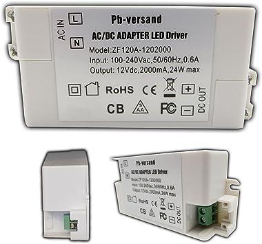 LED Leuchmittel Trafo 12V DC 24 Watt Netzteil Treiber