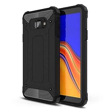 FLHTZS Funda para Samsung Galaxy J4 Plus,Funda Protectora sólida y Duradera,airbag de Cuatro Esquinas,Caja del teléfono Anti-caída(Negro)