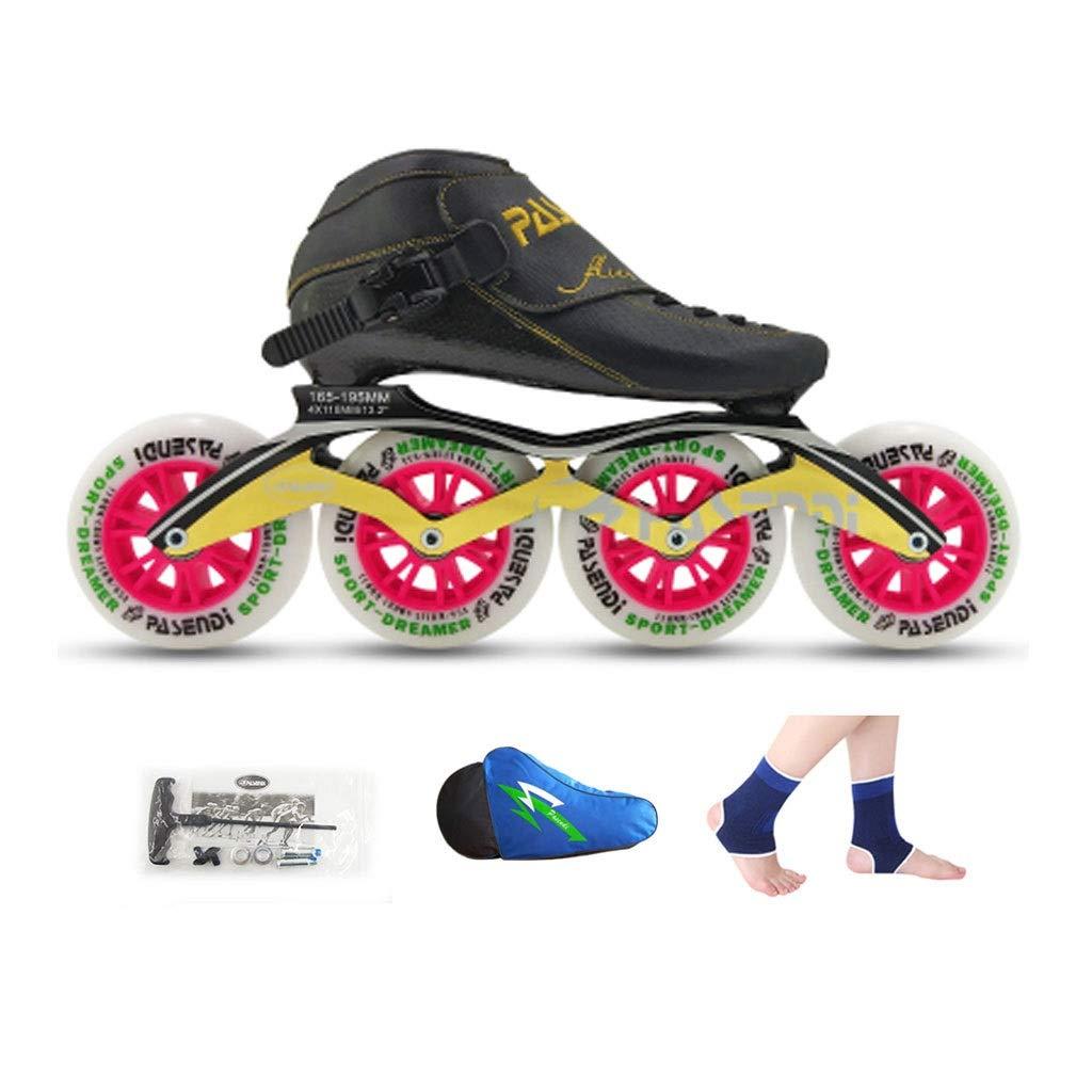 Ailj Inline Skates, Rad Für Erwachsene 4 Räder 90MM-110MM 90MM-110MM 90MM-110MM Hochelastisches PU-Rad Einreihige Thermoplastische Schlittschuhe 4 Farben B07Q4W9QQB Inline-Skates Einzelhandelspreis 2cdc0e
