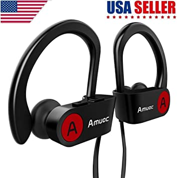 Auriculares deportivos con Bluetooth, Aumoc, IPX7, impermeables, inalámbricos, para deportes,