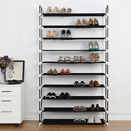 Delicieux Housen Solutions 10 Tier Shoe Rack 50 Pairs Plastic Shoe Shelf Stand  Organizer With Non