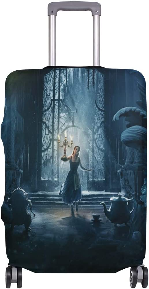 Castle Beauty And The Beast Art suitcase cover elastic suitcase cover zipper luggage case removable cleaning suitable for 29-32 trunk cover