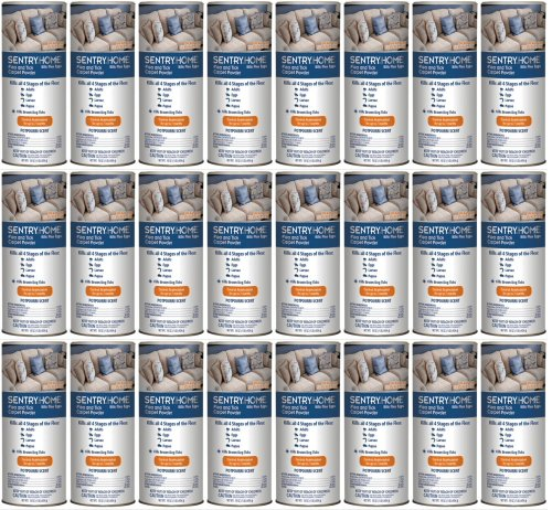 Sentry Flea and Tick Carpet Powder 16oz 24pk