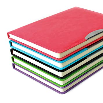 Zhi Jin A5 Premium piel carcasa rígida rayas cuaderno papel ...