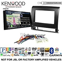 Volunteer Audio Kenwood DNX874S Double Din Radio Install Kit with GPS Navigation Apple CarPlay Android Auto Fits 2012-2015 Non Amplified Toyota Tacoma