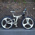 ZTYD-Mountain-Bike-Bicicletta-Pieghevole-24-Pollici-a-Doppia-Sospensione-Freno-a-Disco-Antiscivolo-Totale-variabile-off-Road-velocit-Biciclette-da-Corsa-per-Uomini-e-Donne