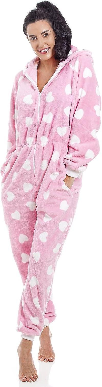 Camille Adulto y niño corazón Todo en uno Onesie Pijama