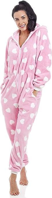 TALLA 9-11 años. Camille Adulto y niño corazón Todo en uno Onesie Pijama