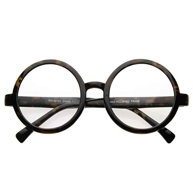 1910s -1920s Sunglasses, Eyeglasses zeroUV - Vintage Inspired Eyewear Round Circle Clear Lens Glasses Eyeglasses $9.99 AT vintagedancer.com