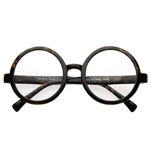 055da37e2f8 Image Unavailable. Image not available for. Color  Vintage Inspired Eyewear  Round Circle Clear Lens ...