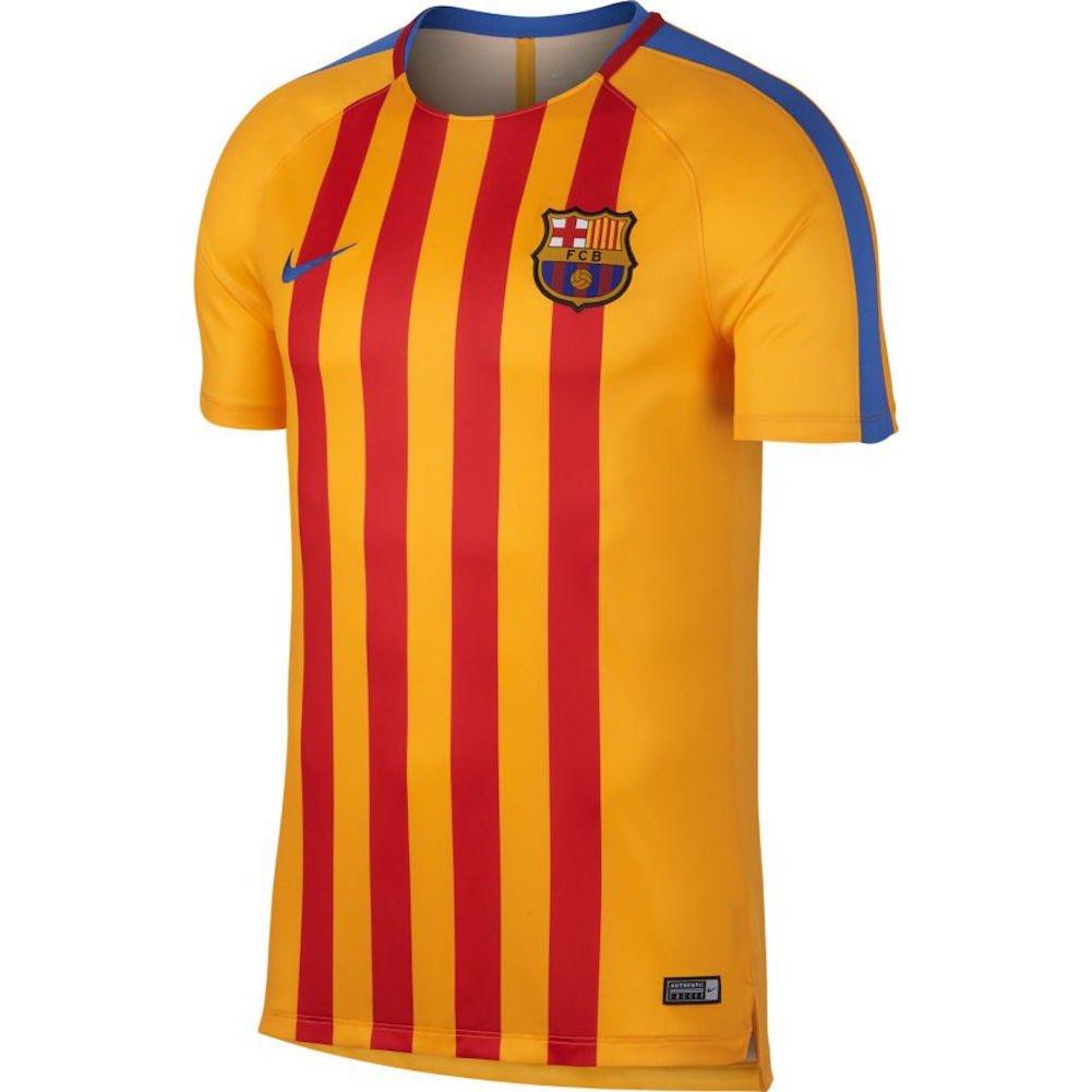 half off 37dd1 ca851 2017-2018 Barcelona Nike Pre-Match Dry Training Shirt ...