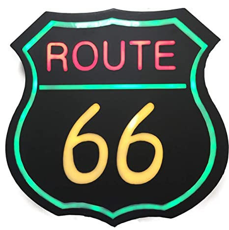 Amazon.com: Steepletone LED Route 66 cartel – Funky y ...