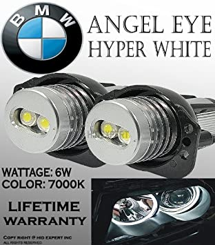 BMW Angel Eye JDM Estilo E90, e91,63117161444 Halo anillo bombillas LED 7000 K [color: Super Bright blanco] Pack de 2 pcs: Amazon.es: Coche y moto