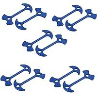uxcell 10pcs 78mm Length Aluminium Alloy Fishbone Stopper Anchor Tent Peg Blue