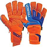 Reusch Prisma Supreme G3 Fusion Ortho-Tec Goalkeeper Glove, Orange/Blue, 8