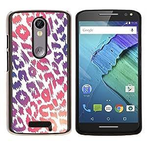YiPhone /// Prima de resorte delgada de la cubierta del caso de Shell Armor - Modelo púrpura rosado de la piel blanca - Motorola Moto X3 3rd Generation