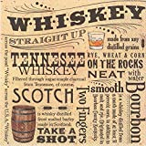 Ideal Home Range C013300 20 Count Whiskey 3-Ply Paper Cocktail Napkins, Multicolor