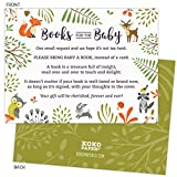 Baby : Woodland Baby Shower Book Request Cards with Owl and Forest Animals. Pack of 50. Gender-Neutral, Unisex Design Suitable for Boy or Girl.