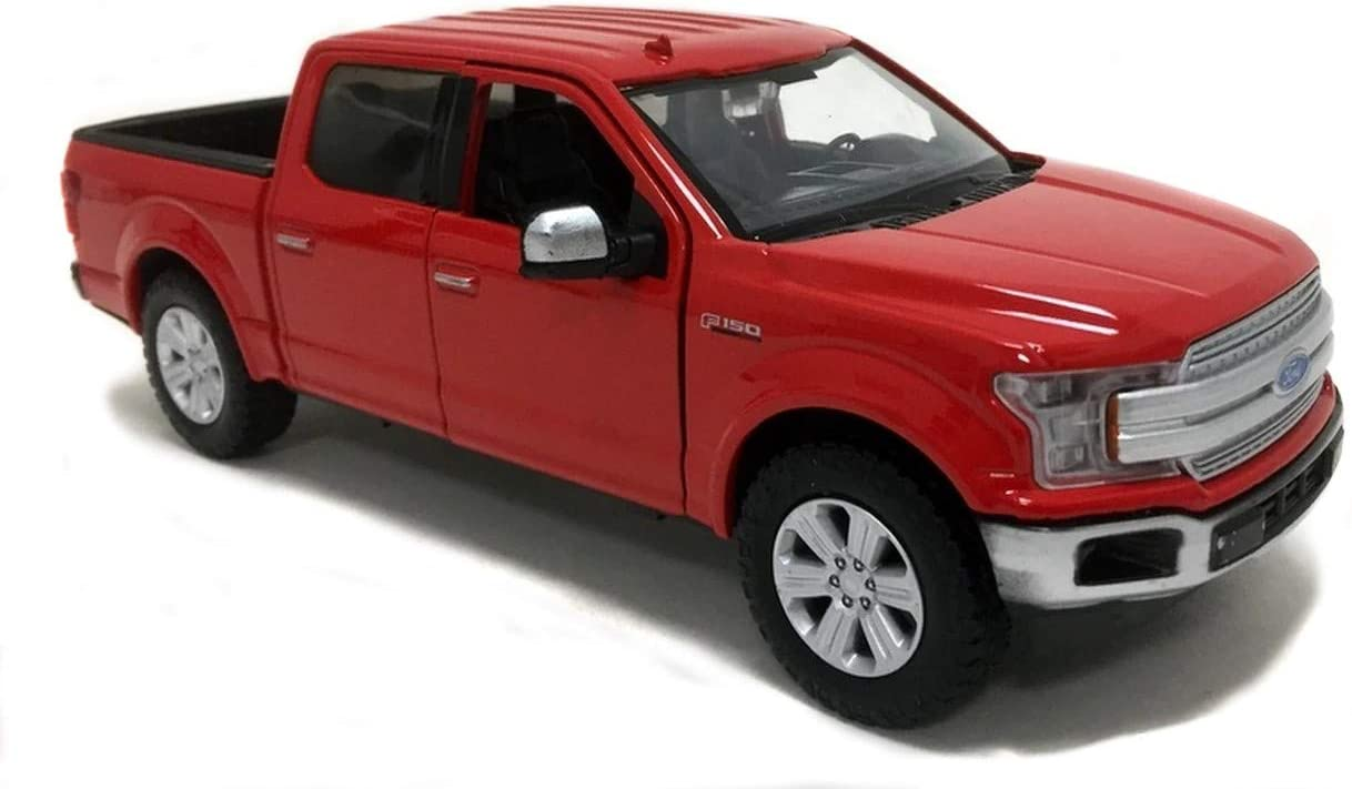 2019 Ford F-150 Lariat Crew Cab Pickup Truck Red 1/24-1/27 Diecast Model Car by Motormax 79363
