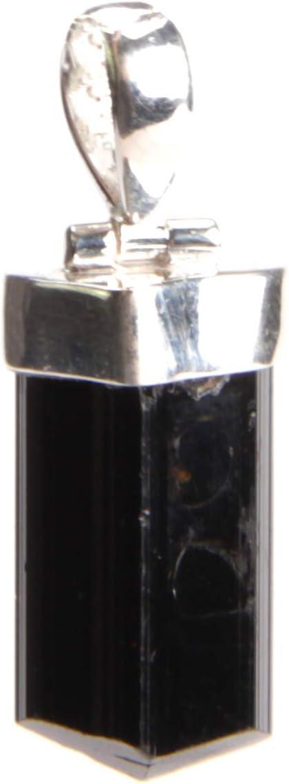 2,7 x 0,5 Silberfassung Sch/örl Anja Burkhardt Turmalin - Anh/änger f/ür Halskette