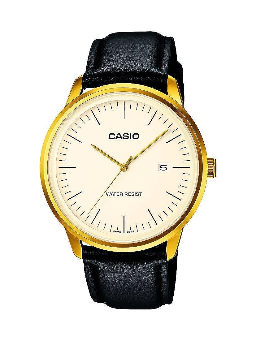 Leder Collection Unisex Quarz Mtp Analog Casio Armbanduhr OkuPiXZ