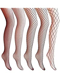 ff99a8478ef8e 4-5 Pairs Fishnet Stockings Womens Lace Mesh Patterned Fishnet Leggings  Tights Net Pantyhose