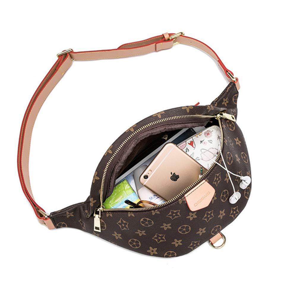 Womens Fashion Printing Waist Pack Sports Chest Bag Shoulder Bag Crossbody Bag