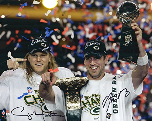 - Aaron Rodgers, Clay Matthews Green Bay Packers Autographed 16