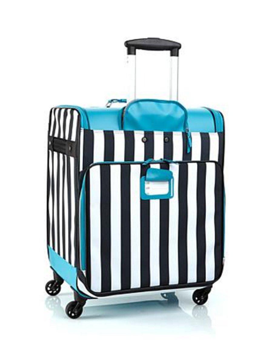 Debbee Flip 'N Pack Expandable Rolling Storage ~(Teal) Stripes
