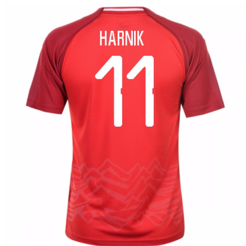 2018-19 Austria Home Shirt (Harnik 11) B077X92MQGRed Medium Adults
