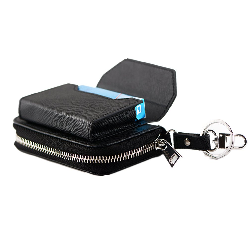 MONOJOY Electronic Cigarette Travel Carrying Case Bag E Cig Zip Pouch for IQOS Cigar, Black
